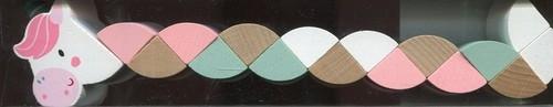 Drewniany jednorożec z ruchomymi elementami (23294)