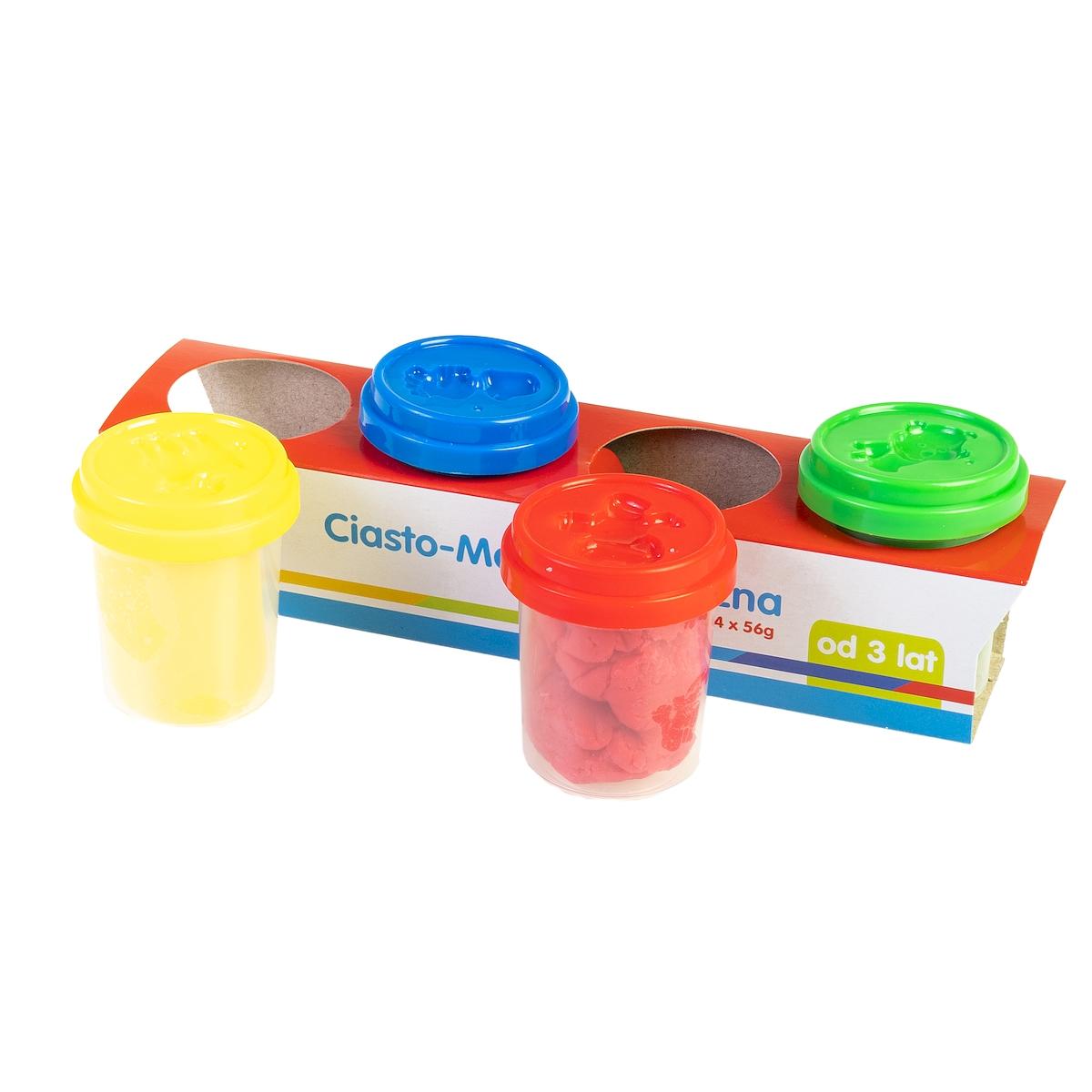 Ciasto-masa plastyczna 4 słoiczki (SP83347)