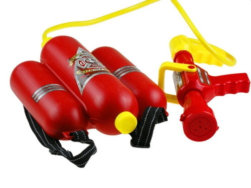 Zestaw strażaka z gaśnicą