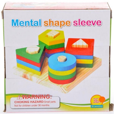 Klocki drewniane Mega Creative piramidka (454690)