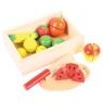 Pudełko drewniane do krojenia owoców
