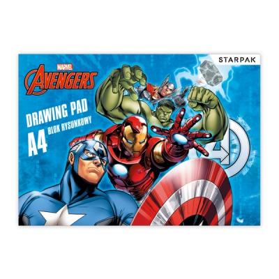 Blok rysunkowy A4/20k biały Avengers 357142 ..