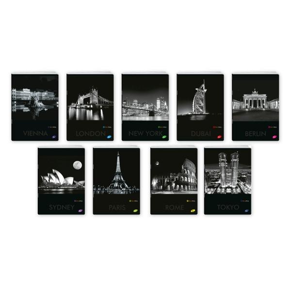 Zeszyt A5/80k kratka - Cities by night (EL-M1-080-KA5)