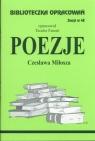 Biblioteczka Opracowań Poezje Czesława Miłosza