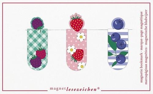 Zakładki Magnetyczne Jagody 2 - 3 sztuki