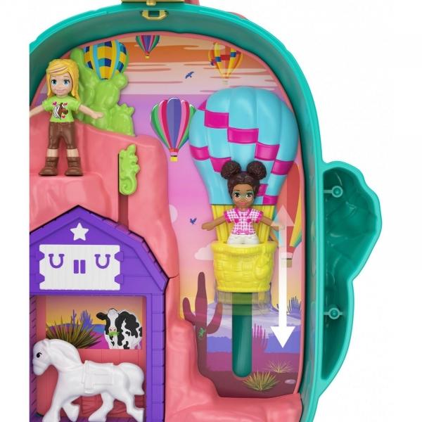 Polly Pocket: Kaktusowe ranczo kowbojki - zestaw kompaktowy (FRY35/GKJ46)