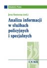 Analiza informacji w służbach policyjnych i specjalnych