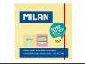 Karteczki samoprzylepne Milan Super Sticky, żółte (417190)