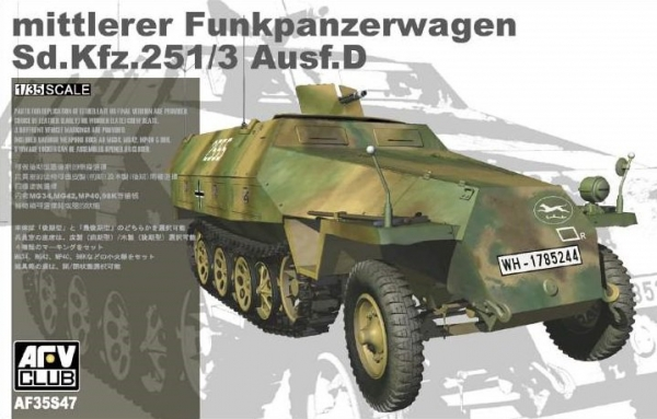 AFV Sd.Kfz 251 Ausf. D 2 out of 1 (35S47)