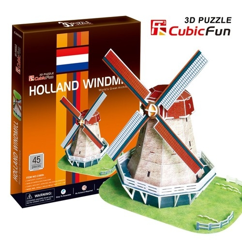 Puzzle 3D Holland Windmill