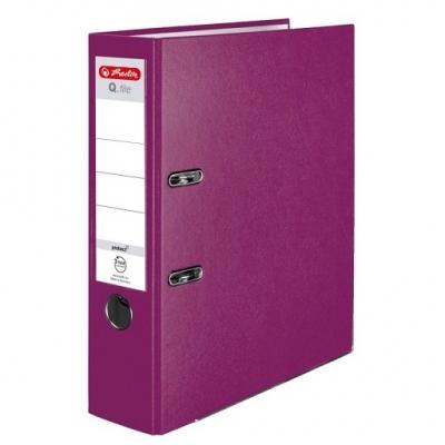 Segregator A4 8cm PP jagodowy Q.File (50011872)