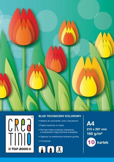 Blok techniczny Creatinio kolor A4 10 kartek Top 2000