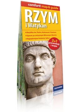 Rzym i Watykan 2 w 1 przewodnik i mapa laminowana praca zbiorowa