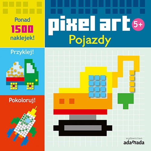 Pixel art Pojazdy Kolorowanka Opracowanie zbiorowe
