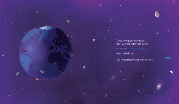 Tutaj jesteśmy. Wskazówki dla mieszkańca planety Ziemia Oliver Jeffers, Mateusz Rulski-Bożek