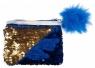 Portmonetka z cekinami niebieska