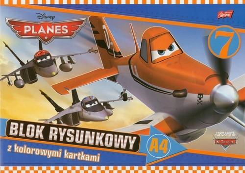 Blok rysunkowy A4 Planes z kolorowymi kartkami