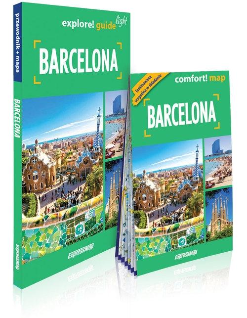 Barcelona 2w1: przewodnik light + mapa