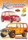 Samochody. Kolorowanki z nalepkami