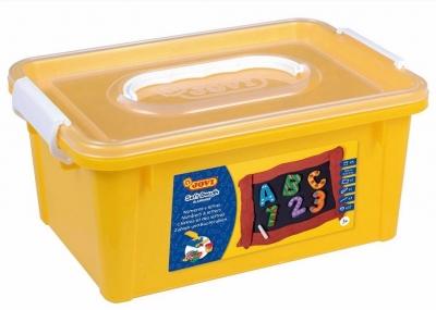 Ciastoplastolina literki + cyferki w kuferku