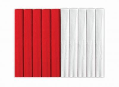 Bibuła marszczona biało-czerwony 25x200cm mix S96010NCA