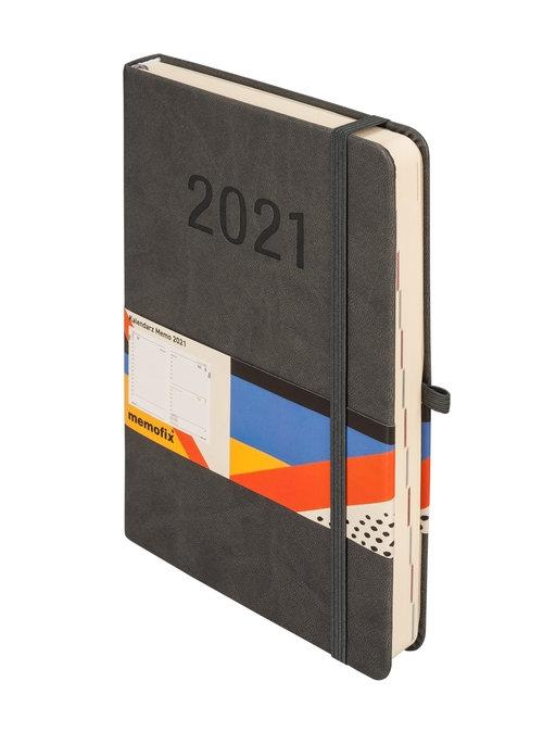 Kalendarz 2021 MEMO A5 DNS grafitowy -