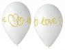 Balon foliowy Godan Hel Love premium 13 cali/5szt. białe (GS120/LV)