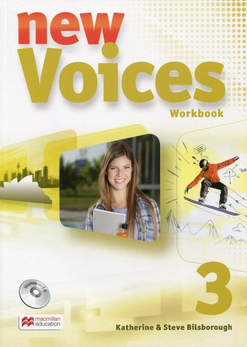 New Voices 3 Zeszyt ćwiczeń z płytą CD Bilsborough Katherine i Steve