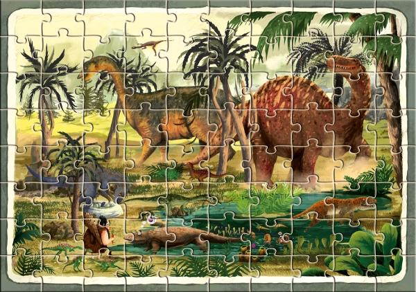 Dinozaury. Puzzle Dziubak Emilia