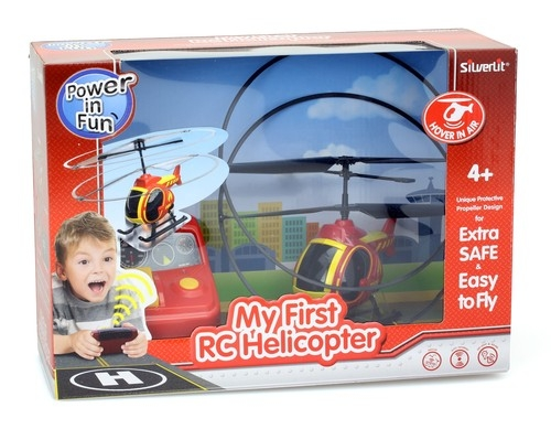 My First RC Helicopter Czerwony