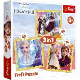 Puzzle 3w1: Kraina Lodu 2 - Moc Anny i Elsy (34847)