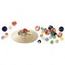 Szklane kulki z talerzem do gry (GOKI-63947)