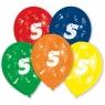 Balony lateksowe cyfra 5, 10 sztuk (48947)