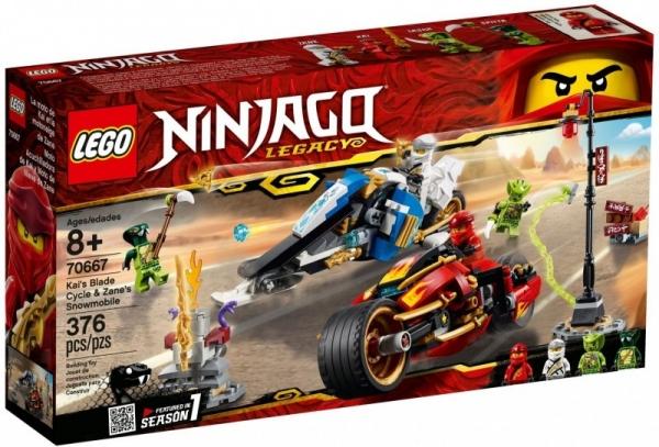 Klocki Ninjago Motocykl Kaia i skuter Zanea (70667)