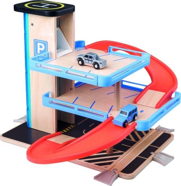 Garaż z windą drewno/plastik (91847)