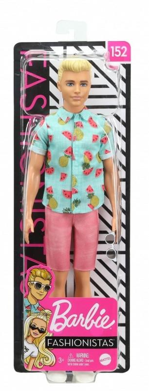 Lalka Barbie Stylowy Ken Koszula w ananasy (DWK44/GHW68)