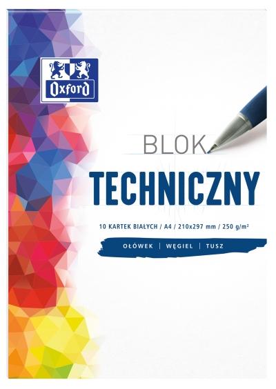 Blok techniczny Oxford A4/10k - biały (400093199)