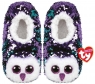 TY Fashion Moonlight - Cekinowe pantofle Sowy