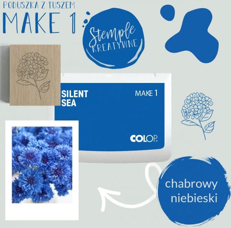 Poduszka do stempli Make 1 - chabrowy niebieski (155128)