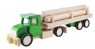 Duża ciężarówka z balami Zielona (6250R)