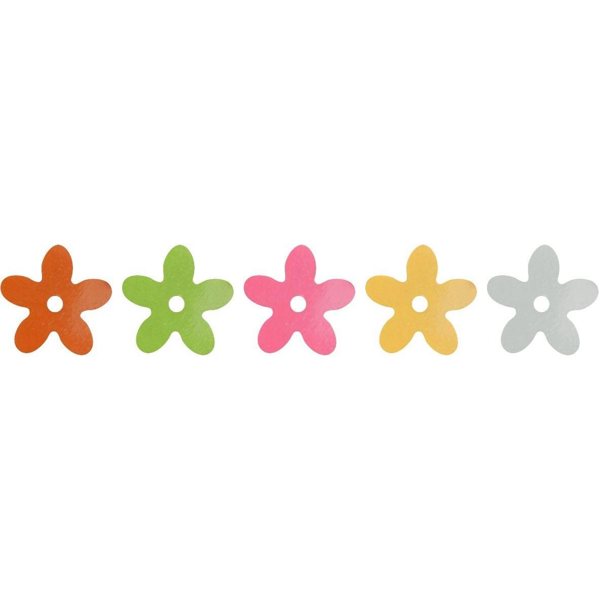 Cekiny kwiaty 10mm 5x5g - kwiaty, 5 kolorów (268436)