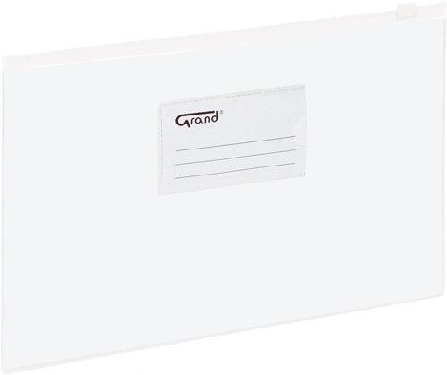 Koperta folia A4 suwak Grand biały