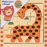 Puzzle drewniane układanka Żyrafa 9 elementów