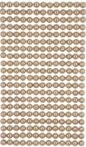 Perełki samoprzylepne 6 mm, 260 szt. beige (GRPE-033)