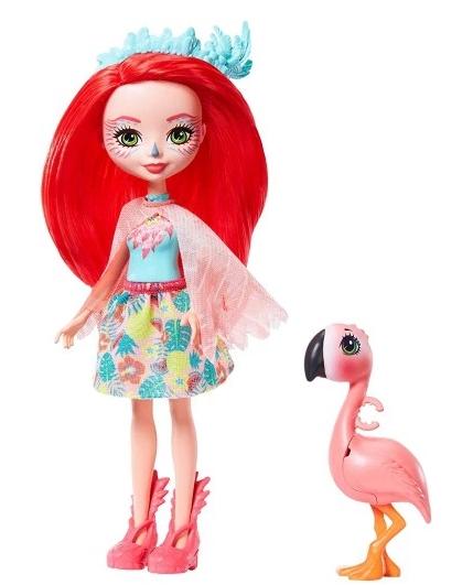 Lalka Enchantimals + zwierzątko: Fanci Flamingo i Swash (FNH22/GFN42)