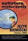 Syllabus maturzysty  Język niemiecki matura 2002
