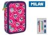 Piórniki MILAN 2-poziomowy z wyposażeniem BATS & BITES róż081264BBTP