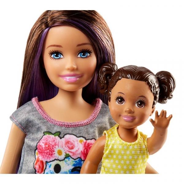 Barbie Opiekunka zestaw + lalki (FHY97)