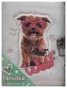 Pamiętnik z kłódką włochacz 96 kartek Pies