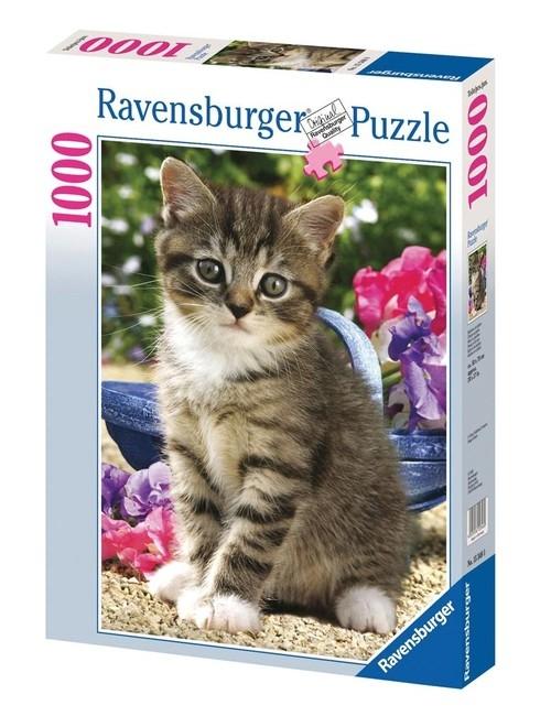 Puzzle Kotek w ogrodzie 1000  (153480)